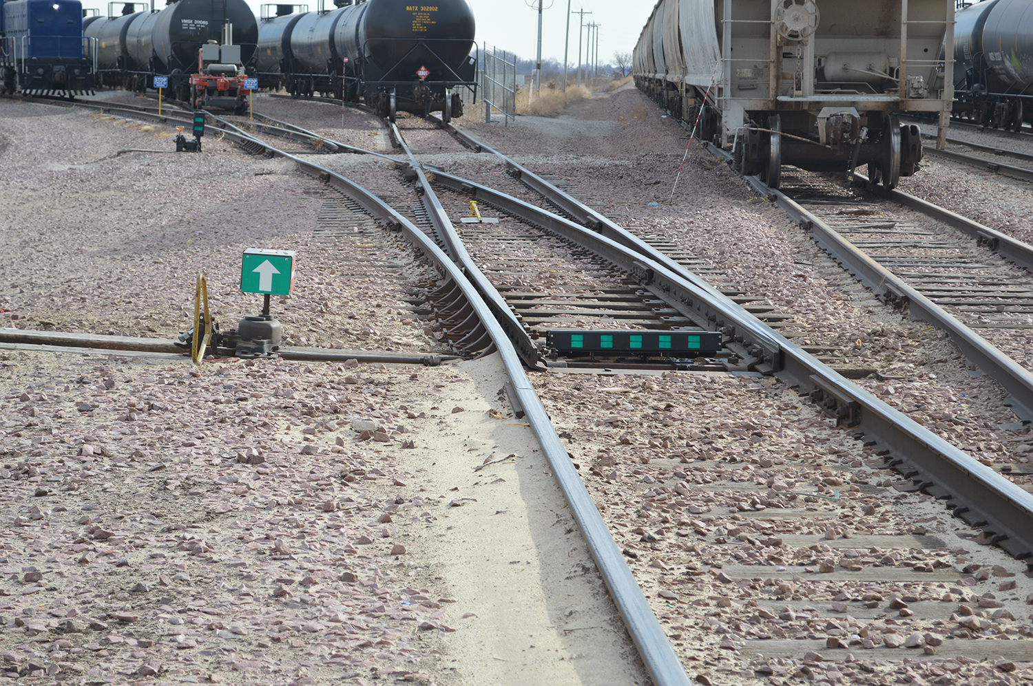 switchrite installed in a rail yard with competitor switch